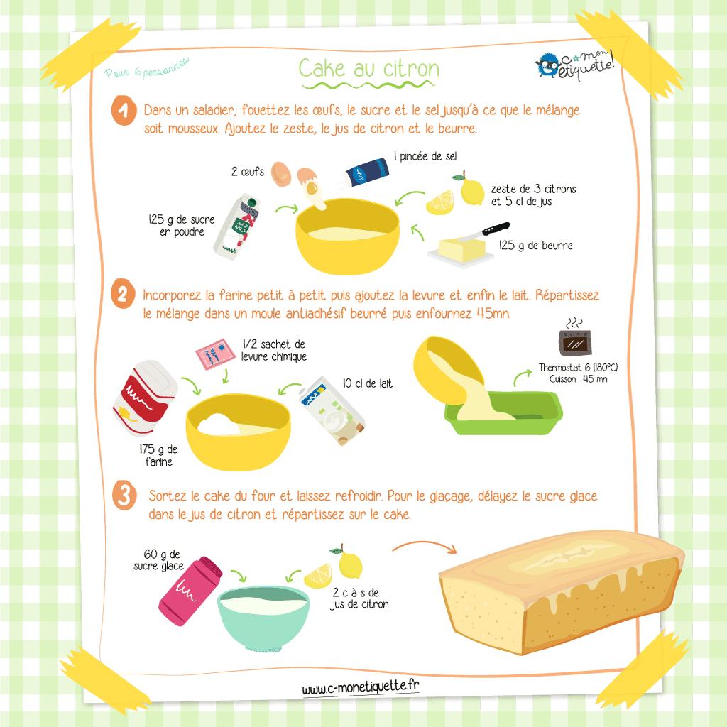 Qui veut une part de gâteau au citron pour la goûter ?