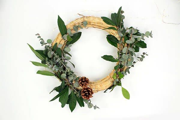 Craquez pour cette couronne de Noël qui sort de l'ordinaire !