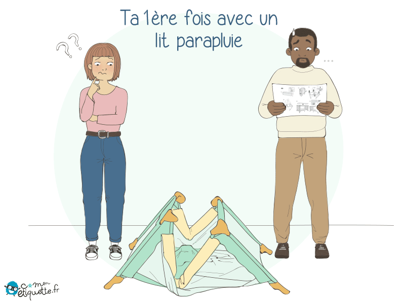 Même avec les instructions, il est difficile déplier les lits parapluie ! Il faudrait presque un diplôme ! ?