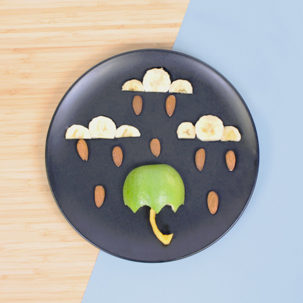Funfood parapluie tout en fruits
