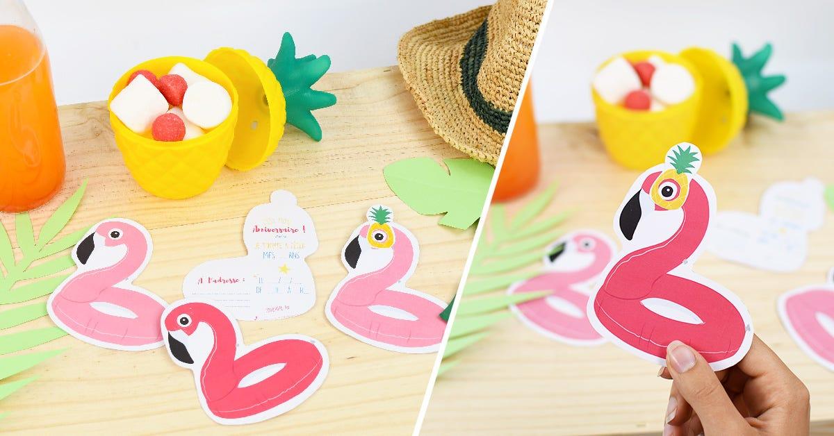 Organiser une fête d'anniversaire enfant sur le thème des flamants roses ? Trop facile avec notre DIY invitations anniversaire pour une fête réussie !
