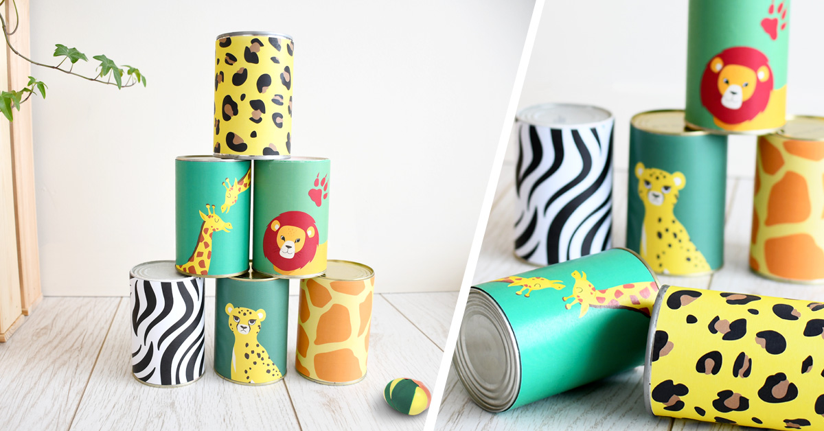Les vacances approchent : on prépare ce super chamboule-tout aux imprimés inspirés du Roi Lion pour occuper les enfants pendant l'été !