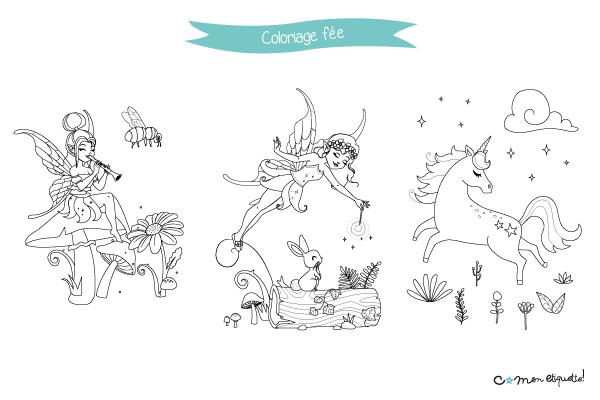 Téléchargez gratuitement nos coloriages sur le thème des fées !