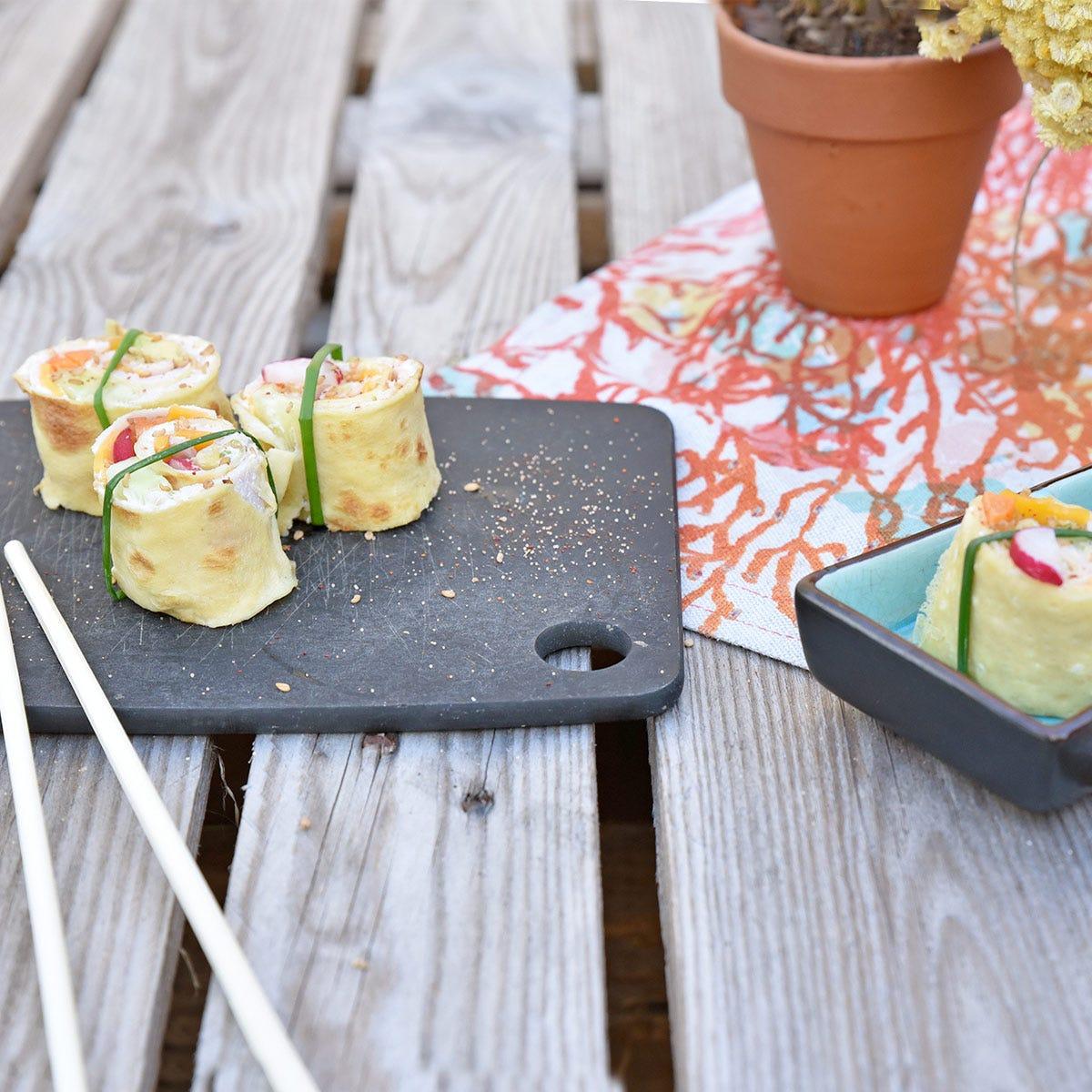 Une façon originale de manger des crêpes : découvrez notre recette de crêpes salées en Maki !