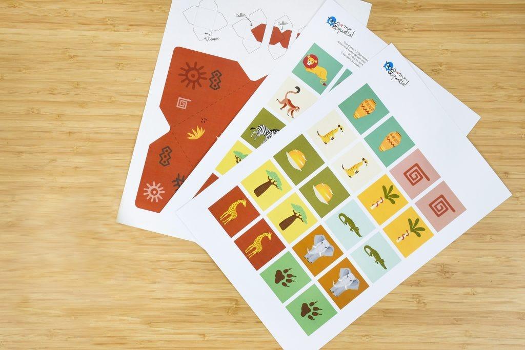Réalisez rapidement et simplement ce memory savane sur le thème du Roi Lion ! Une façon simple pour les enfants d'apprendre le nom des animaux de la savane et de travailler leur mémoire !