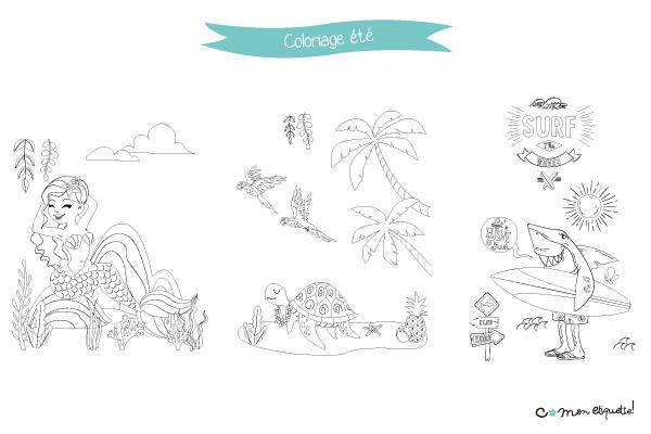 On amène les tropiques et la bonne humeur à la maison grâce aux coloriages sur le thème de l'été à télécharger gratuitement !