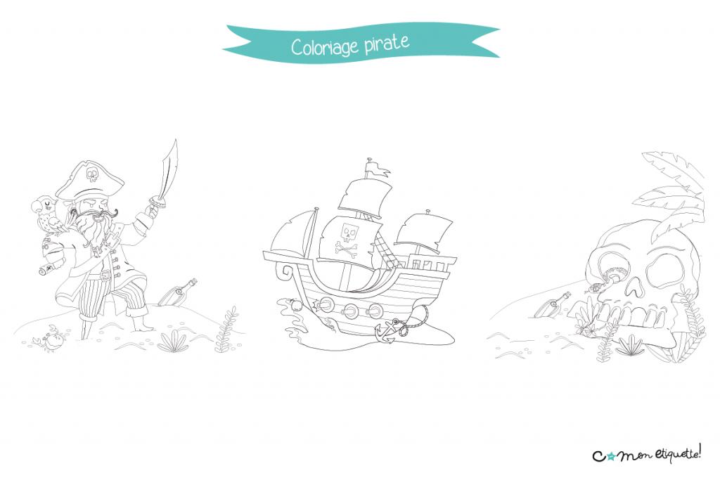 À l'abordage ! Téléchargez gratuitement les coloriages sur le thème des pirates pour vos petits moussaillons !