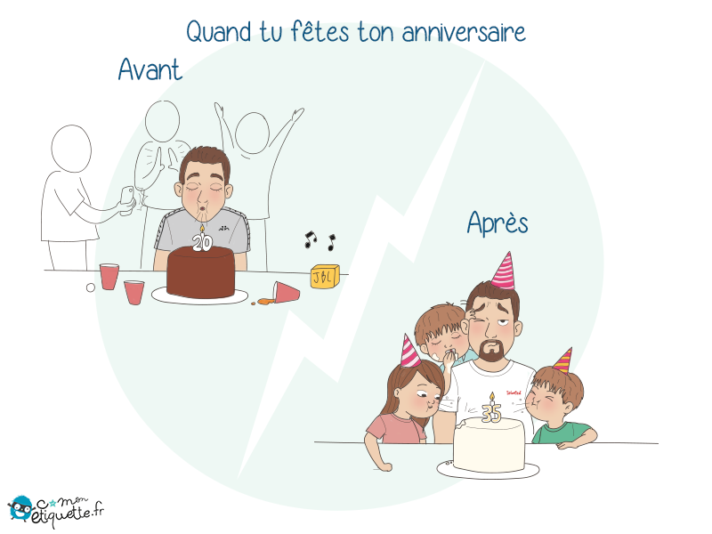Quand on devient parents, un tas de choses changent, y compris nos fêtes d'anniversaires !