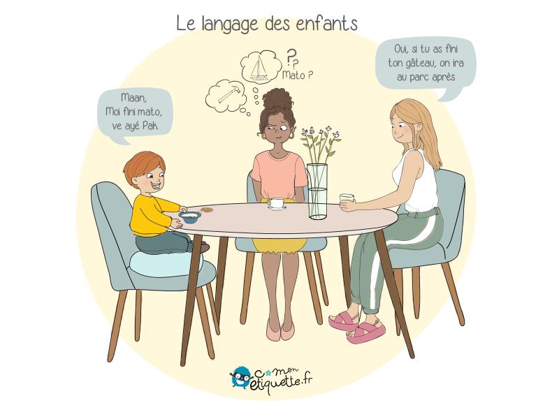 Pas toujours facile de comprendre le langage des jeunes enfants : heureusement que les parents ont un décodeur intégré !