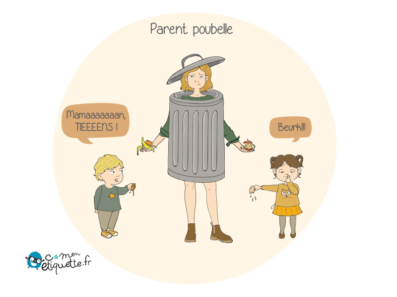 Quand le tri sélectif se résume à donner à papa ou donner à maman, écolos ces enfants
