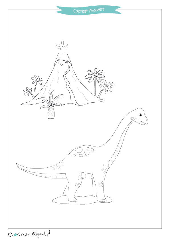 Prêts pour l'aventure ? On embarque direction Jurassic Park avec ces coloriages sur le thème des dinosaures !