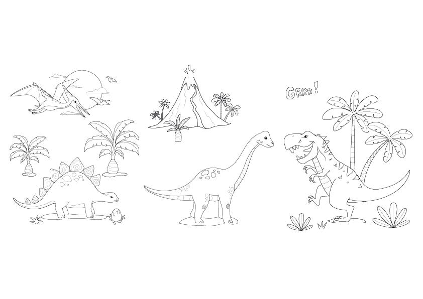 Dessine Moi Les Dinosaures Diy C Monetiquette