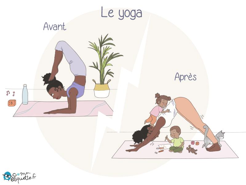 Quand la séance de yoga se transforme en joyeux bazar, difficile de se relaxer avec les enfants à côté