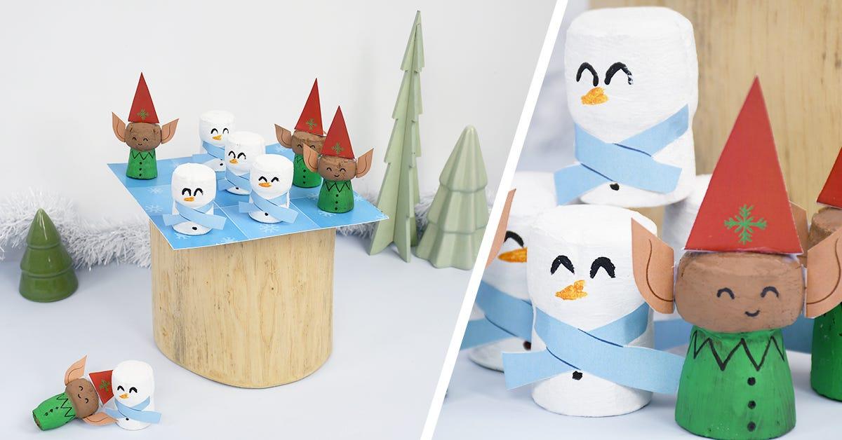 Réalisez facilement un morpion spécial hiver, avec un bonhomme de neige et un rêne aux allures d'Olaf et Sven du fameux dessin animé préféré des enfants : la Reine des Neiges® ! Retrouvez tous nos ateliers sur le blog
