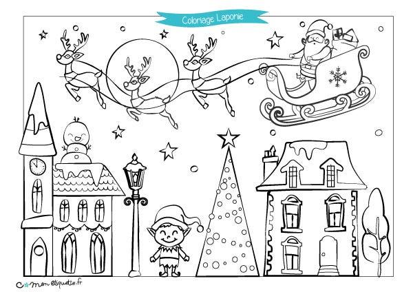 Téléchargez gratuitement notre coloriage de Noël sur le thème de la Laponie pour que vos petits lutins offrent de beaux dessins au Père Noël ! Retrouvez tous nos coloriages et tutoriel dessin sur le blog.