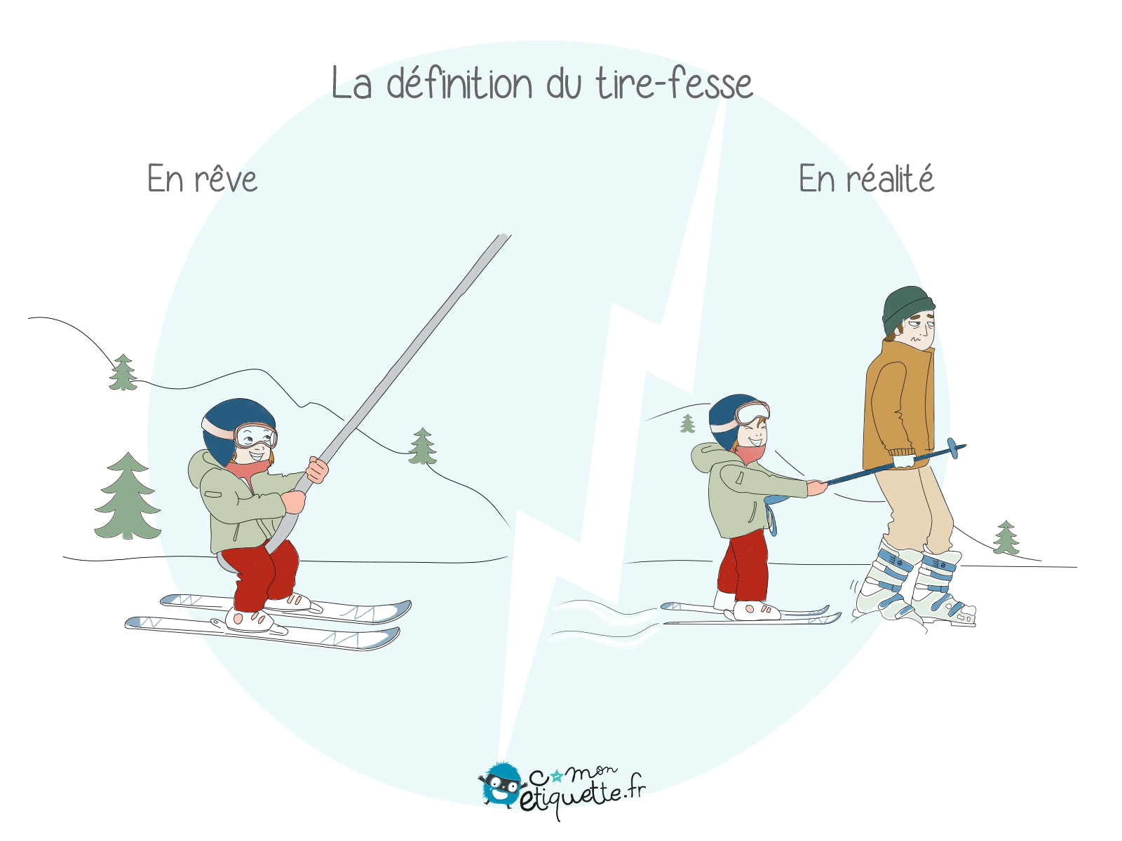 Quand tu pars au ski, tu sais que tu vas passer plus de temps à tirer tes enfants qu'à skier !