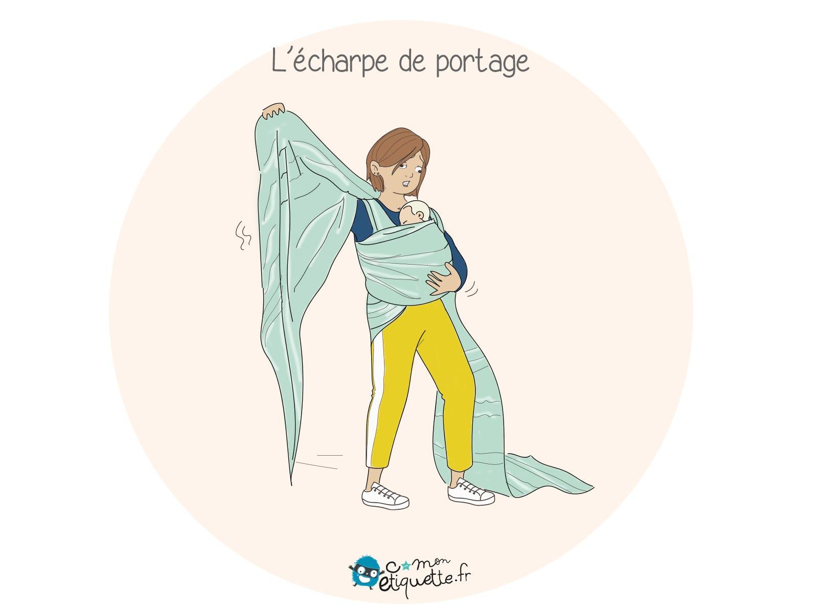 Quand il s'agit de porter bébé, l'écharpe de portage est idéale… Si on sait comment l'attacher !
