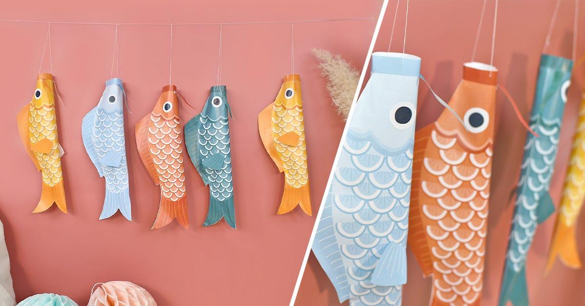 DIY guirlande poissons koinobori