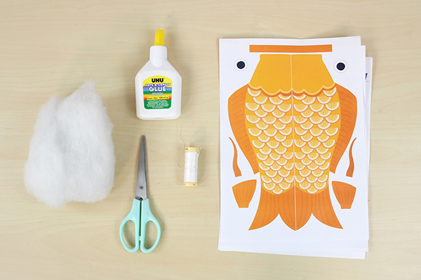 materiel guirlande poissons koinobori