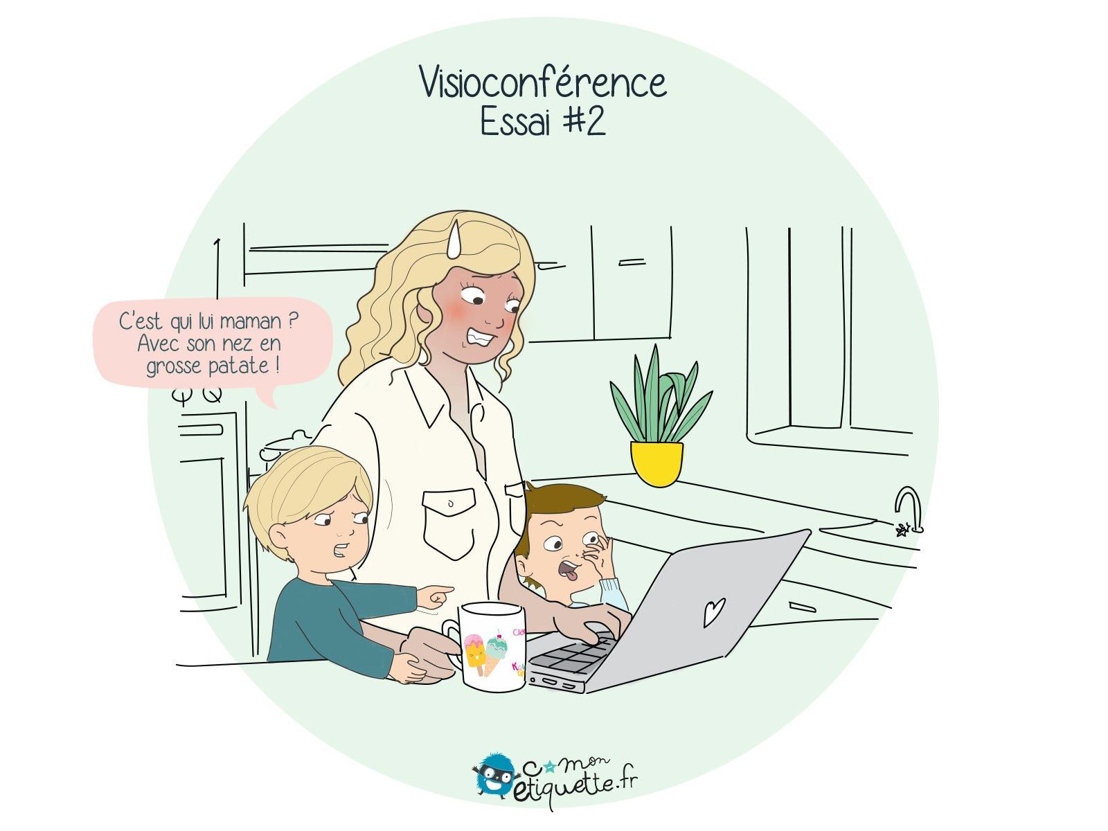 visioconférence et teletravail avec les enfants