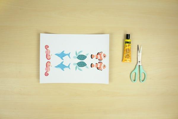 materiel marque-pages animaux de la mer