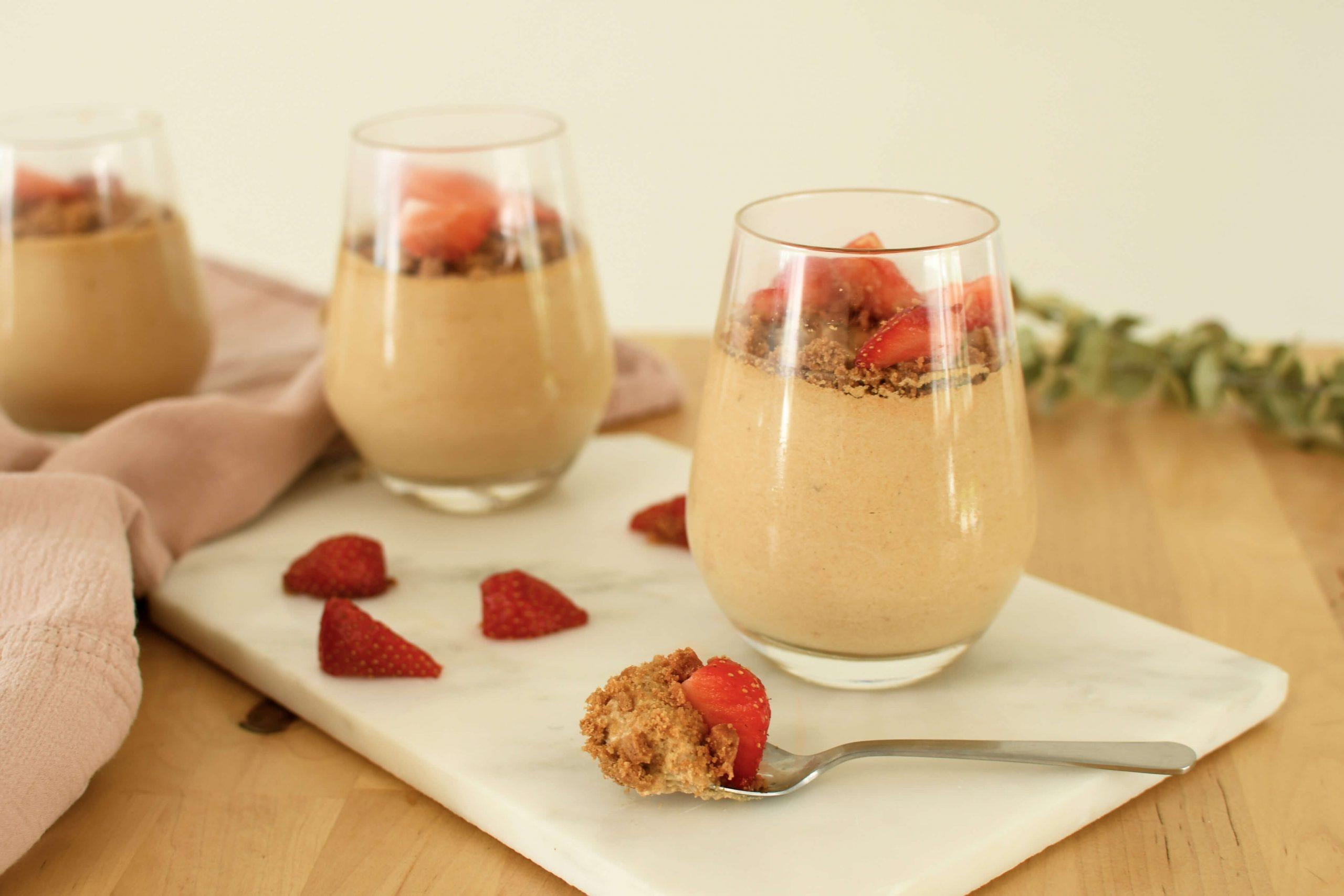recette mousse au speculoos et aux fraises