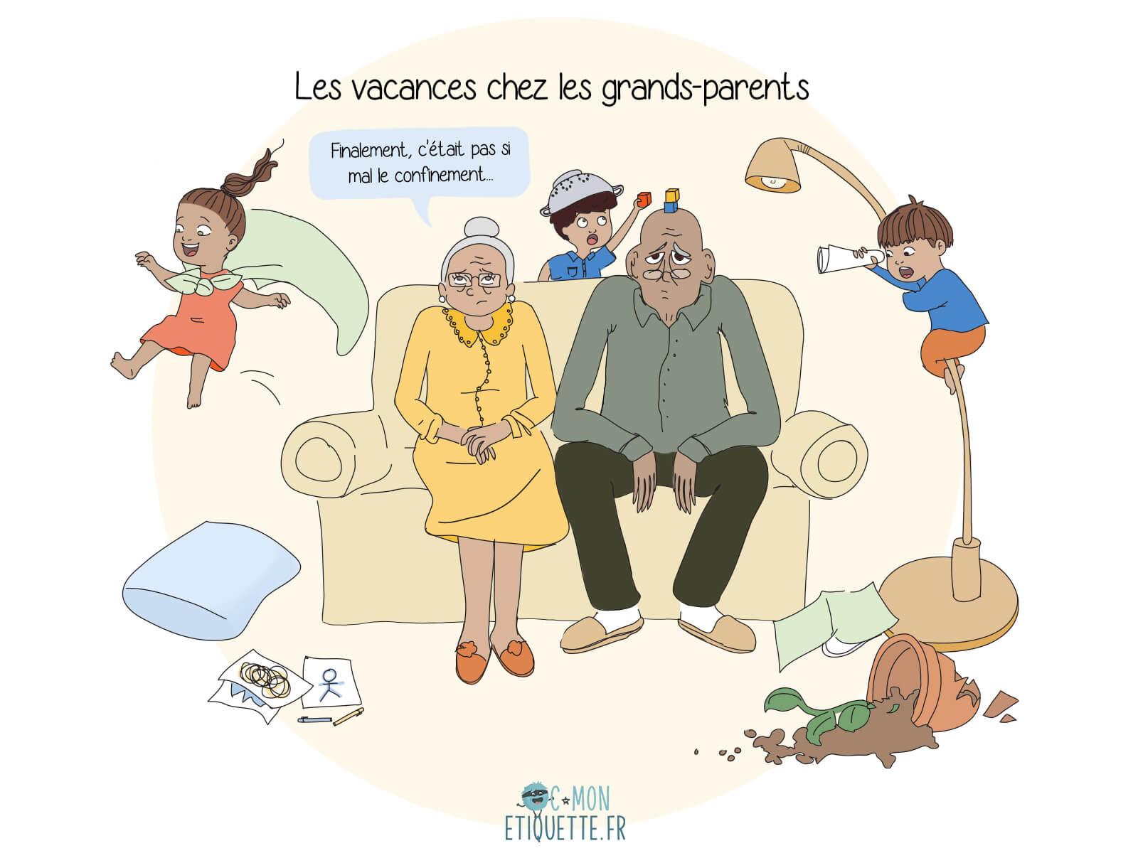 Pendant les vacances, beaucoup rêvent de laisser les enfants chez les grands-parents… Au grand dam de ces derniers !