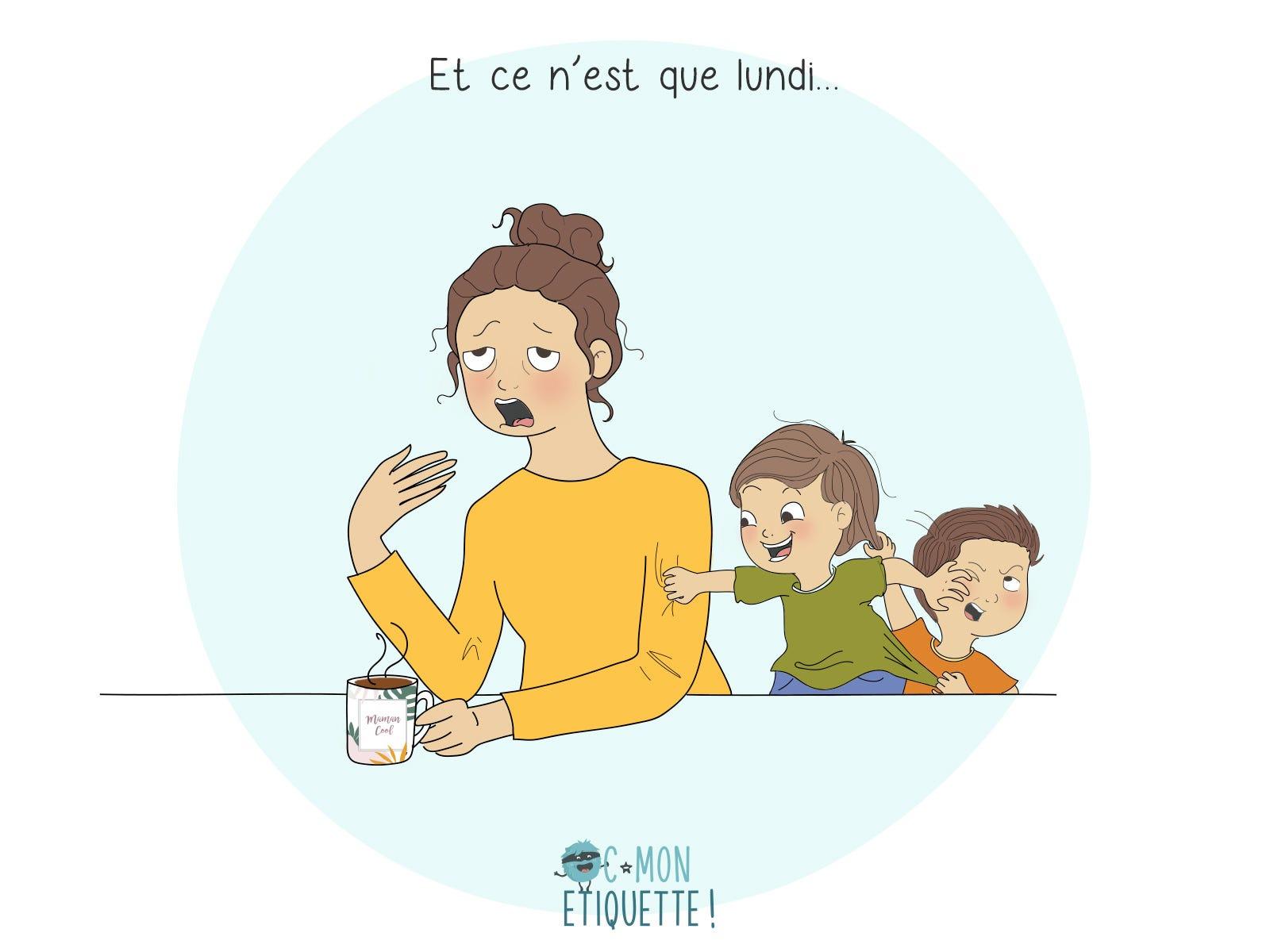 Vous aussi vous connaissez le lundi matin difficile ? Les enfants en pleine forme et les parents au ralenti !