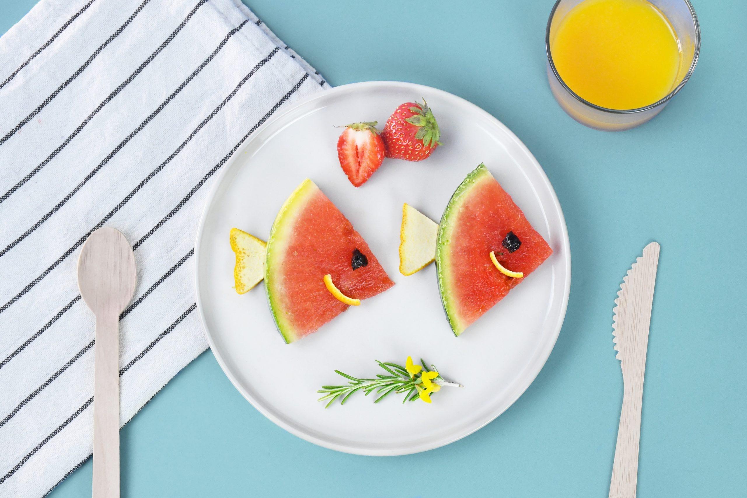 assiette rigolote enfant fruit