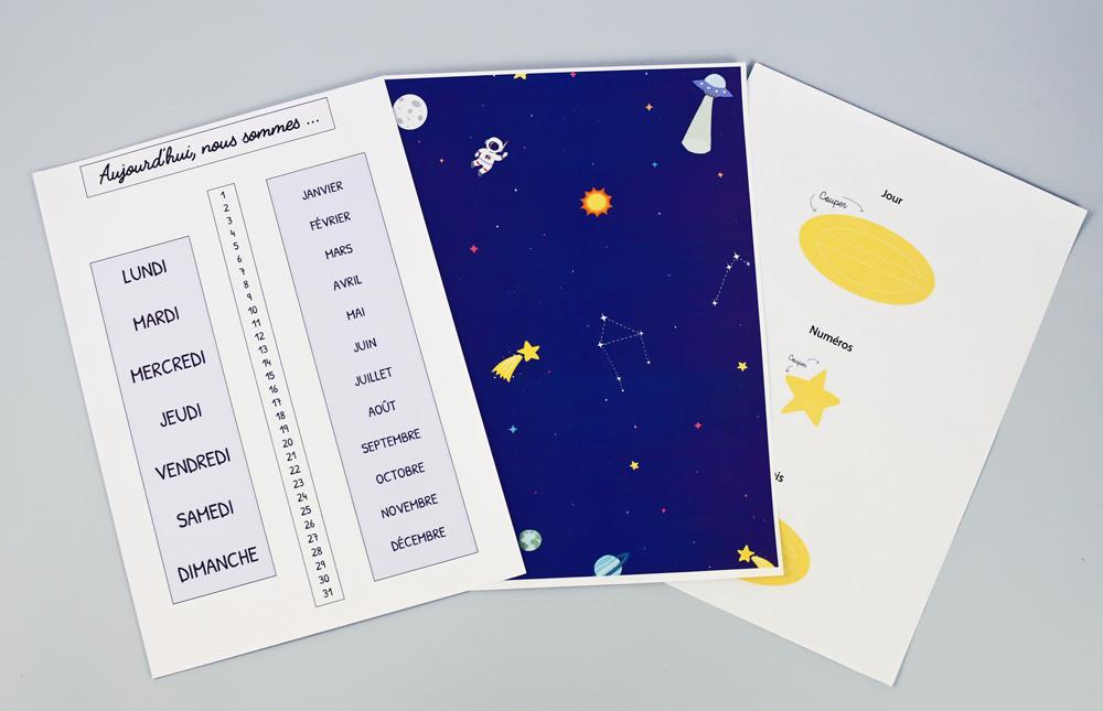 calendrier astronaute