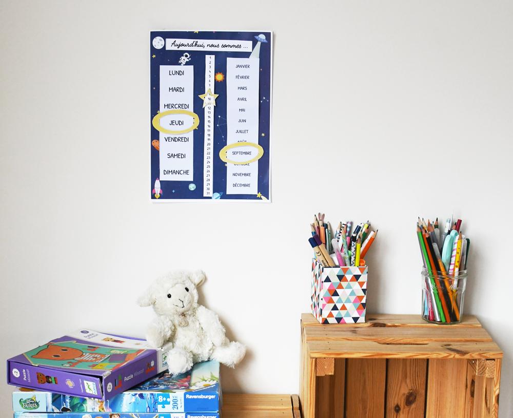 fabriquer calendrier enfant